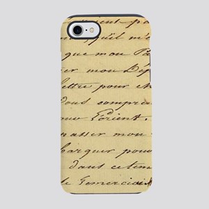 shabby chic french script iPhone 8/7 Tough Case