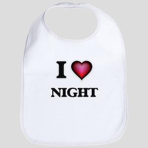 I Love Night Bib