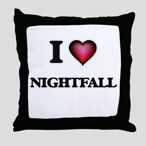 I Love Nightfall Throw Pillow