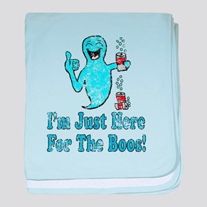 Vintage I'm Here for the Boos baby blanket
