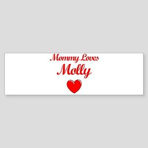 Mommy Loves Molly Bumper Sticker