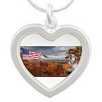 Autumn Ranger Silver Heart Necklace