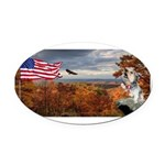 Autumn Ranger Oval Car Magnet