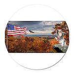 Autumn Ranger Round Car Magnet