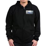 Beach Ranger Zip Hoodie (dark)