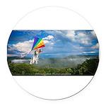 Flying Ranger Round Car Magnet