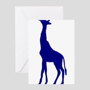 Purple Giraffe Greeting Cards