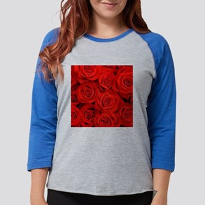 modern romantic red rose petal Long Sleeve T-Shirt