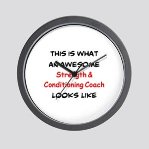 awesome strength & conditioning coach Wall Clock