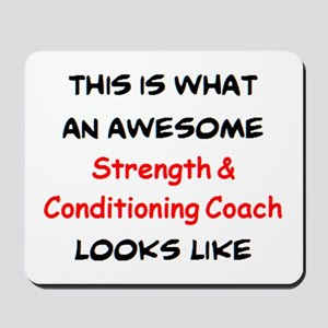 awesome strength & conditioning coach Mousepad