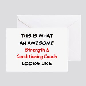 awesome strength & conditioning coac Greeting Card