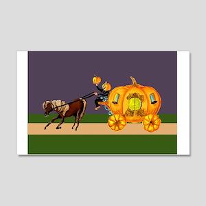 Headless Horseman pumpkin head pumpkin carriage wi