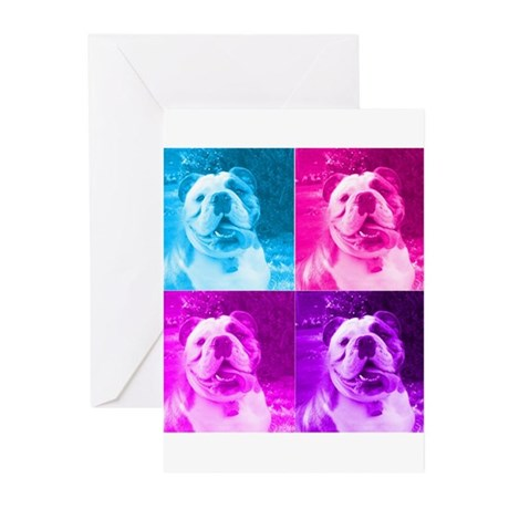 Rainbow Bulldog Greeting Cards (Pk of 10)