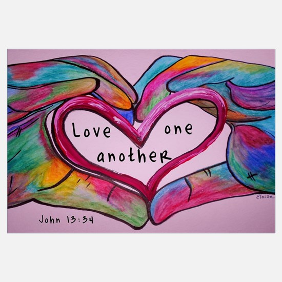 Cute Love one another Wall Art