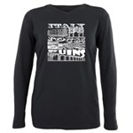 Italy Rocks Ruins Plus Size Long Sleeve Tee