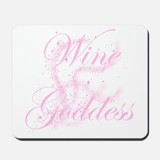 Glittery Wine Goddess Mousepad