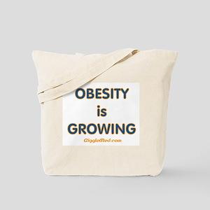 Obesity is Growing Tote Bag