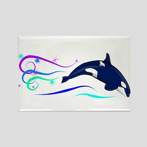 Orca Sparkle Rectangle Magnet