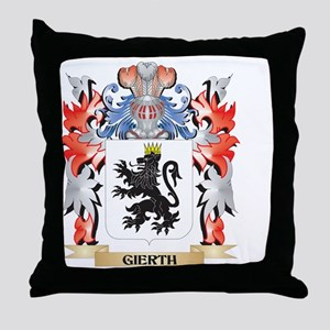 Gier Coat of Arms - Family Crest Throw Pillow