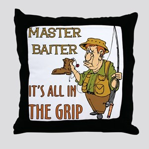 MasterBaiter Throw Pillow