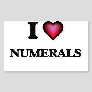 I Love Numerals Sticker