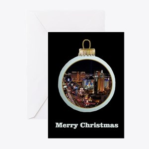 Las Vegas Strip Ornament Christmas Cards 10 Greeti