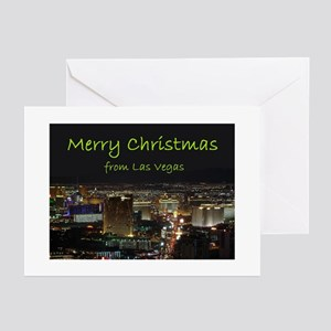 Merry Christmas from Las Vegas Cards 10 Greeting C
