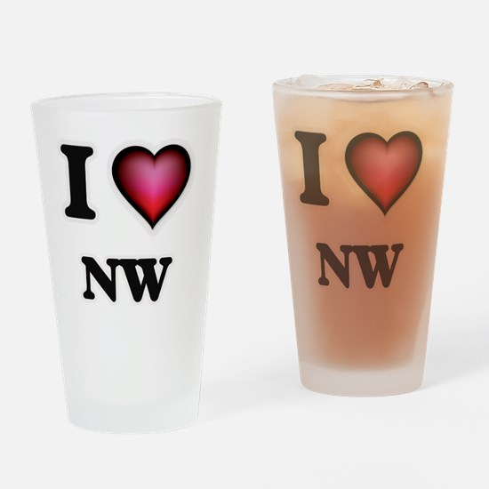 I Love Nw Drinking Glass