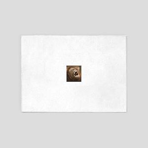 Orangutan with open mouth 5'x7'Area Rug