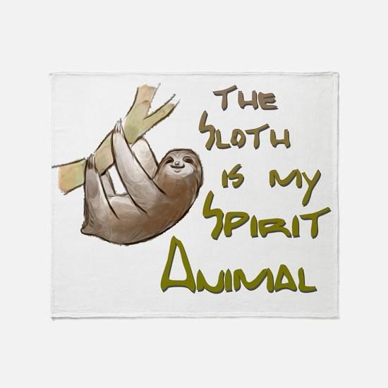 Cute Sloth Throw Blanket