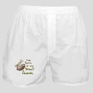 The sloth is my Spirit animal Boxer Shorts