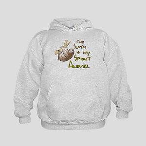 The sloth is my Spirit animal Kids Hoodie