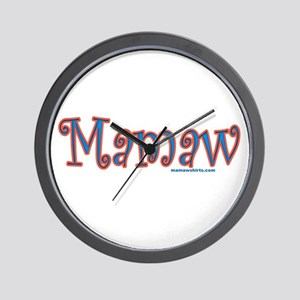 Mamaw click to view Wall Clock