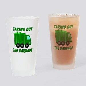Taking out the Garbage Drinking Glass