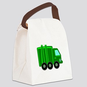 Garbage Truck Canvas Lunch Bag