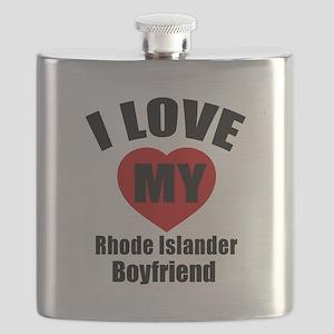 I Love My Rhode Island Boyfriend Flask