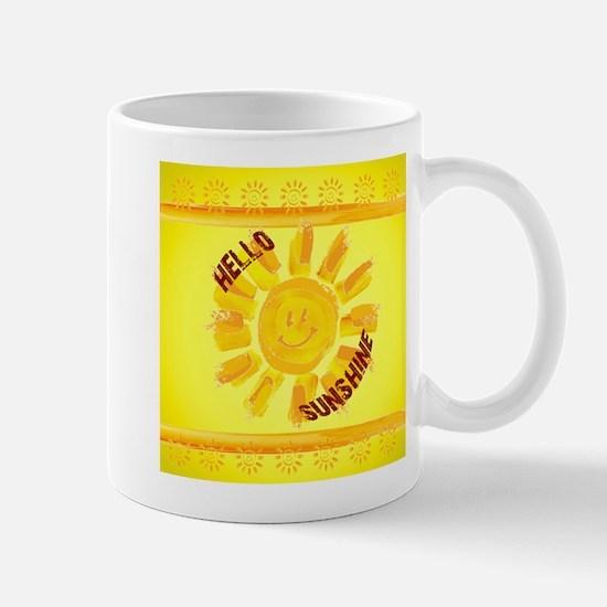 hello sunshine Large Mugs
