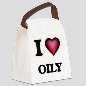 I Love Oily Canvas Lunch Bag