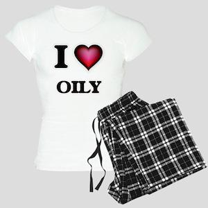 I Love Oily Women's Light Pajamas