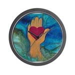 Heart in Hand Wall Clock