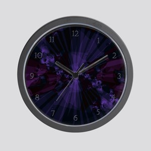 Shattered in Deep Purple Clock Wall Clock