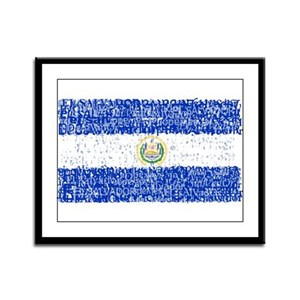 Textual El Salvador Framed Panel Print