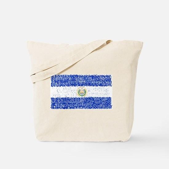 Textual El Salvador Tote Bag