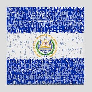 Textual El Salvador Tile Coaster