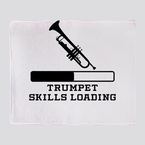 Trumpet Skills Loading Throw Blanket