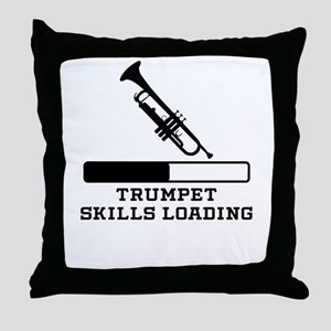 Trumpet Skills Loading Throw Pillow
