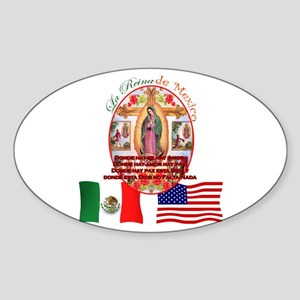 Reina de Mexico Oval Sticker