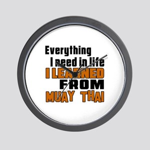 Everything I Learned From Muay Thai Wall Clock