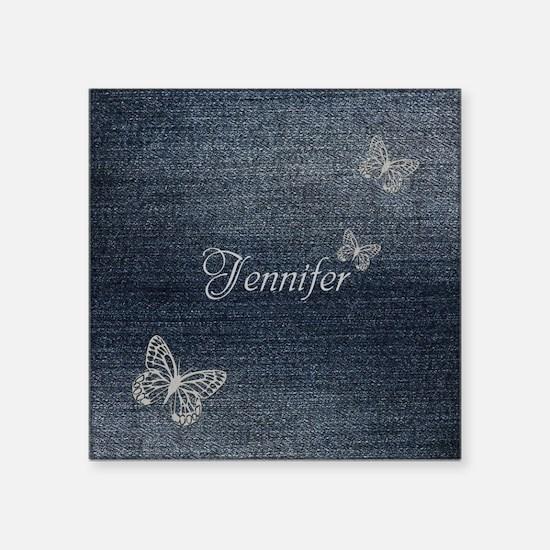 Cute Blue Denim Butterfly Sticker