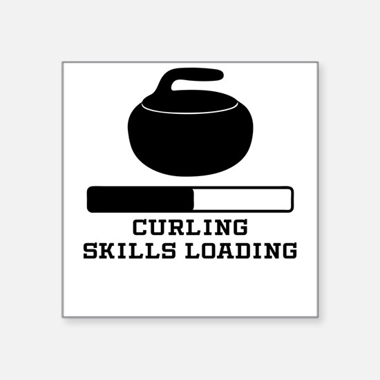Curling Skills Loading Sticker